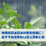 梅雨のジメジメ対策を完璧に! おすすめ湿気取りグッズまとめ